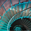 Stock Photo: Downward spiraling staircase