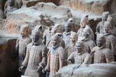 Terracotta warriors in xian — Stock Photo