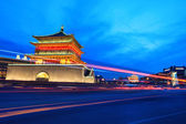 Ancient city of xi'an at night — Foto Stock