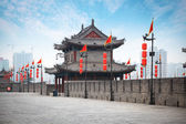 Ancient tower on city wall in Xi'an — Stock Photo