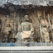 chinese longmen buddha statues — Stock Photo