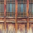 Chinese traditional wooden door — Stock Photo