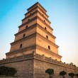 Big wild goose pagoda at dusk — Stock Photo