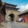 Ancient drum tower in luoyang — Stock Photo