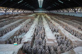 Xian terracotta warriors and horses — Stock Photo