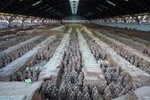 Xian terracotta warriors and horses — Stock Photo