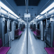 Empty inside subway car — Stock Photo