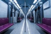 Empty inside subway car — ストック写真