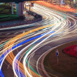 Urban road car light trails  — Stock Photo