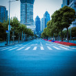 Modern street view in shanghai — Stock Photo