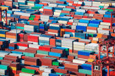 Lot's of cargo freight containers — Stock Photo