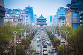 The street scene of ancient city in xian — Stock Photo