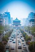 A cena de rua da cidade antiga em xian — Foto Stock