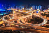City interchange overpass — Stock Photo