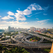 City overpass in early morning — Stock Photo