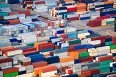 A lot of shipping containers — Stock Photo