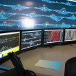 Stock Photo: Control room of railway