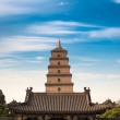 Giant wild goose pagoda in sian — Stock Photo
