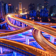 colorful overpass at night — Stock Photo