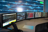 Control room of railway — Stock Photo