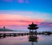 Beautiful hangzhou in sunset — Stock Photo