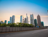 Skyline financial center di shanghai al crepuscolo — Foto Stock