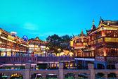 Shanghai yuyuan at dusk — Stock Photo