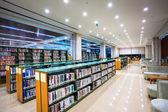 Modern library interior — Stock Photo
