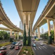 Elevated traffic highway — Stock Photo