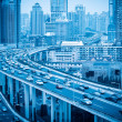 Stock Photo: Elevated road with modern city
