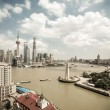 Shanghai skyline at daytime — Stock Photo