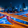 Shanghai elevated road at night — Stock Photo
