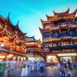 Beautiful shanghai yuyuan garden at night — Stock Photo