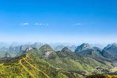 Paisagem de colinas de carste de bonito — Fotografia Stock