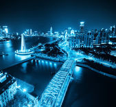 Shanghai bund at night — Stock Photo