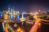 Shanghai på natten — Stockfoto