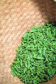 свежий зеленый чай крупным планом — Стоковое фото