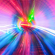 Tunnel with motion blur background — Stock Photo