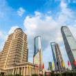 Stock Photo: Shanghai downtown against a blue sky