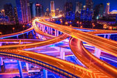 Beautiful interchange overpass closeup — Stock Photo