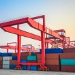 Inland container terminal — Stock Photo
