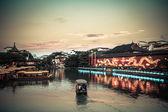 南京夕暮れ時に孔子廟 — ストック写真