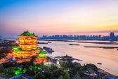 Nanchang τοπίο του περιπτέρου tengwang σούρουπο — Φωτογραφία Αρχείου