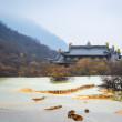 Stock Photo: Huanglong scenery with calcification pond