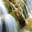 Waterfall and stream closeup in the forest — Stock Photo