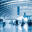 Modern airport terminal interior view — Stock Photo #34698773