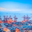 Shanghai container terminal at dusk — Stock Photo #36560449