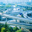 Modern city elevated road overpass in morning — Stock Photo
