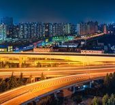 Shanghai viaduct at night — Stock Photo