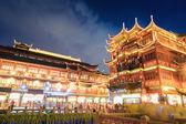 Beautiful shanghai yuyuan at night — Stock Photo